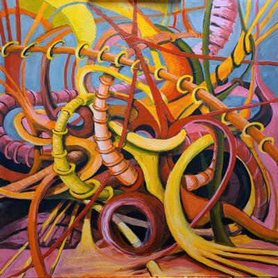 Mirkine, Anou - Homage to Beethoven II - Acrylic on Canvas -30x30.jpg